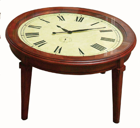 The Sunrise Shops Clock Face Coffee Table